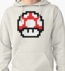 8-Bit Mario Nintendo Mushroom Red Pullover Hoodie