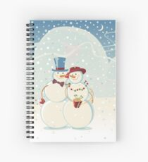 Snowmen Love Spiral Notebook