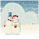 Snowmen Love by rusanovska