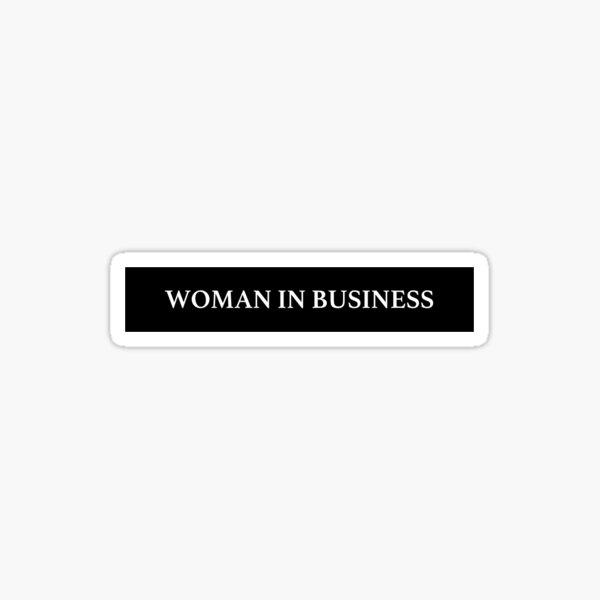 Woman in Business Sticker