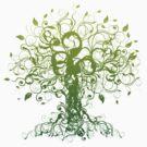 Meditate, Meditation, Spiritual Tree Yoga T-Shirt  by T-ShirtsGifts