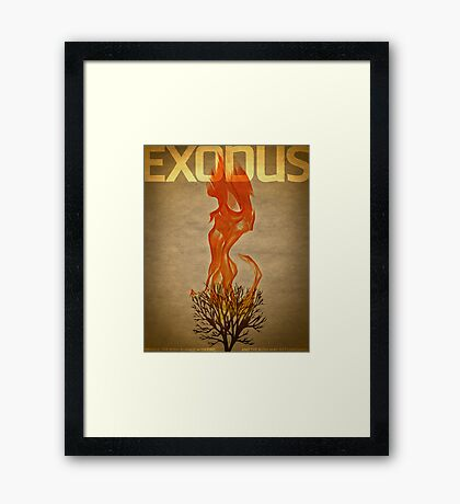 Word: Exodus Framed Print