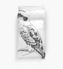 Kookaburra Black and White Duvet Cover