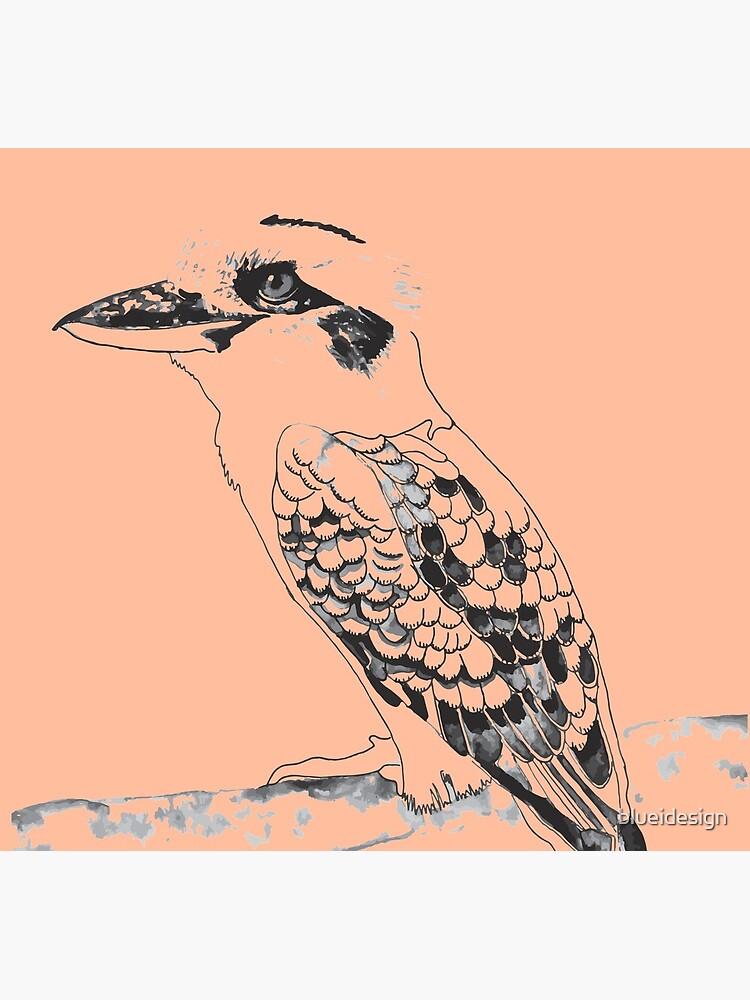 Kookaburra Black and White by blueidesign