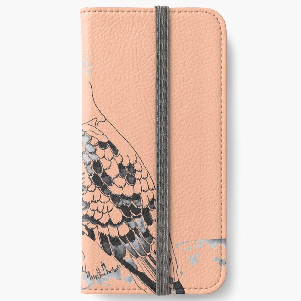 Kookaburra Black and White iPhone Wallet