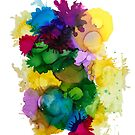 "Bright colours alcohol ink art ""Celebration"". by Sandra Vincent"