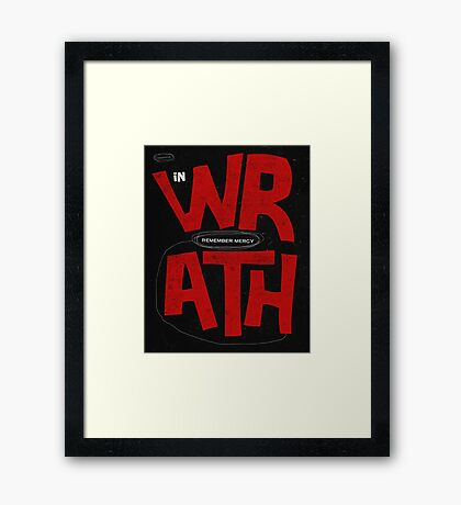 Word: Habakkuk Framed Print