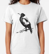 Magpie Black and White Classic T-Shirt