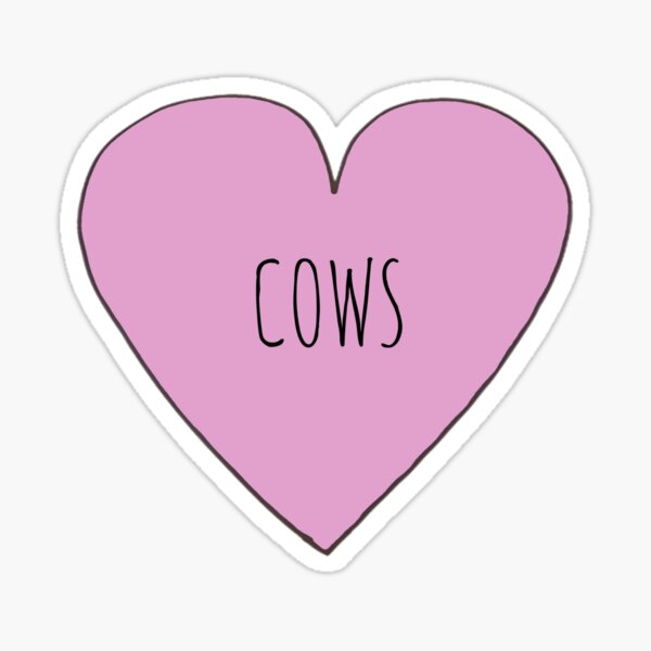 Cow Love Sticker