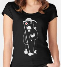 Death Is A Cat Person Women's Fitted Scoop T-Shirt