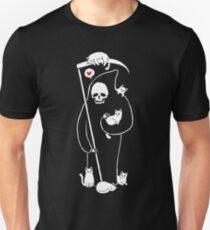 Der Tod ist eine Katze Person Slim Fit T-Shirt