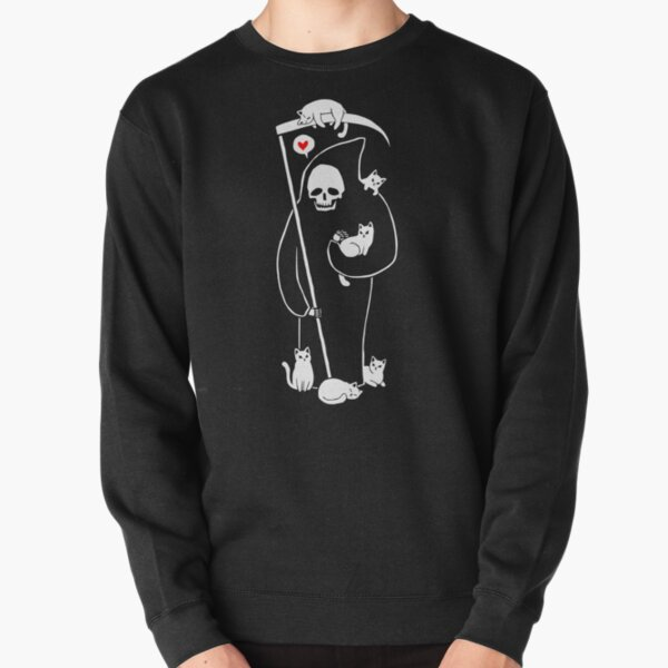 Death Is A Cat Person Pullover Sweatshirt