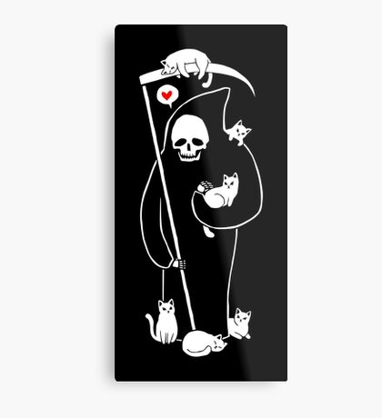 Death Is A Cat Person Metal Print