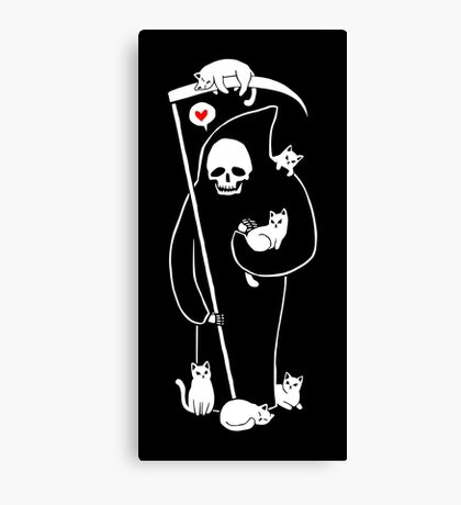 Death Is A Cat Person Canvas Print