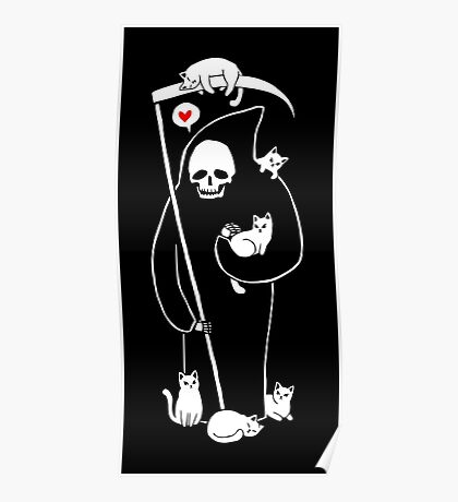 Death Is A Cat Person Poster