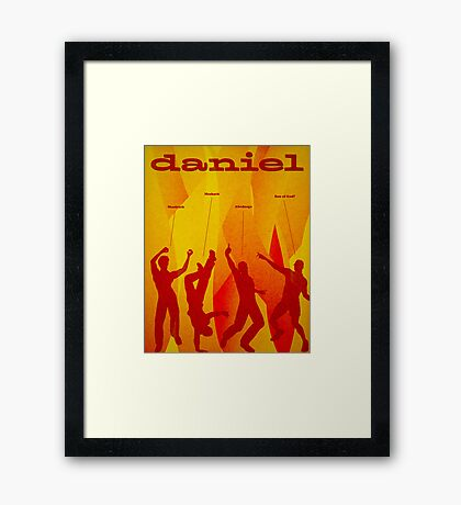 Word Leftovers: Daniel Framed Print