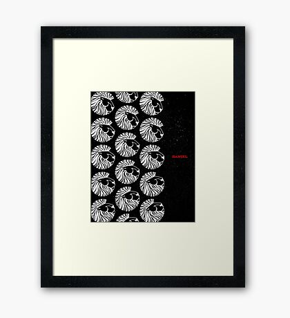 Word: Daniel Framed Print