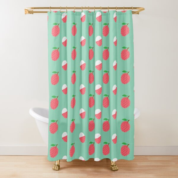 Pretty pink lychees Shower Curtain