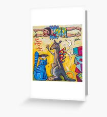 Lone Swamp wallaby Greeting Card