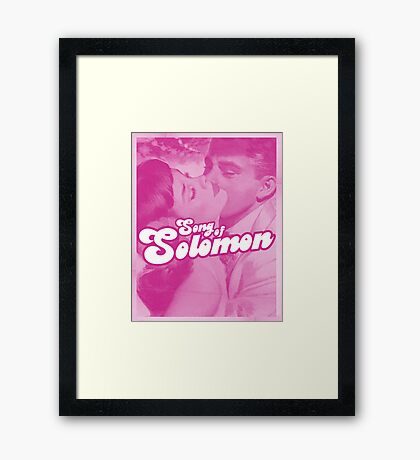 Word Leftovers: Song of Solomon 4 Framed Print