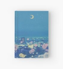 Sailor Moon Background City at Night Hardcover Journal