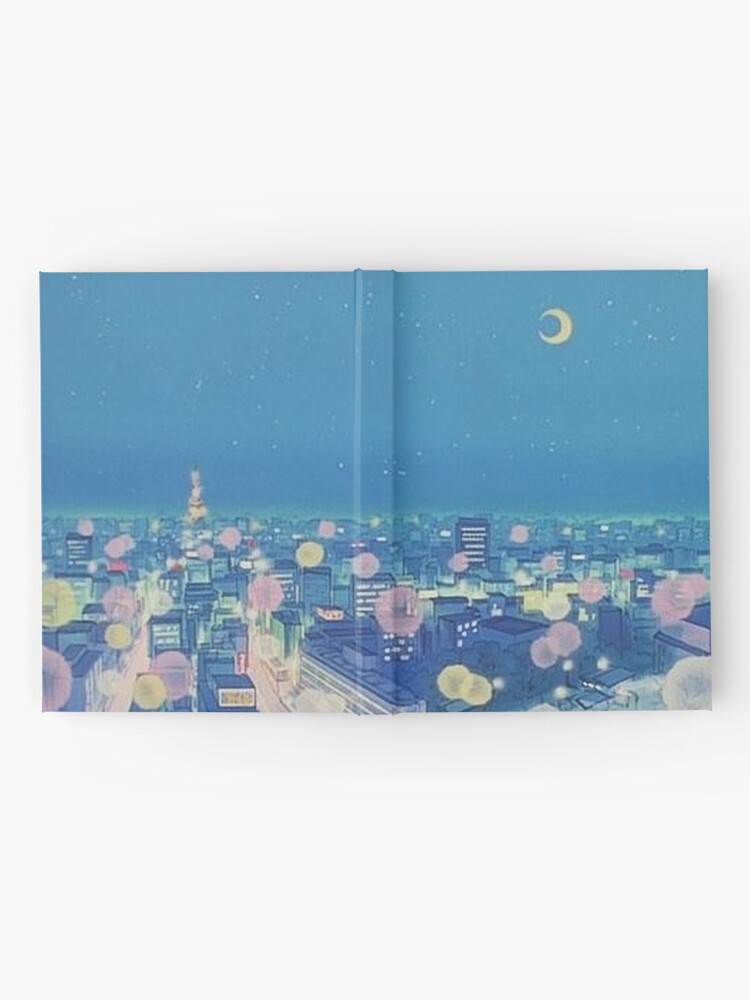 Alternate view of Sailor Moon Background City at Night Hardcover Journal