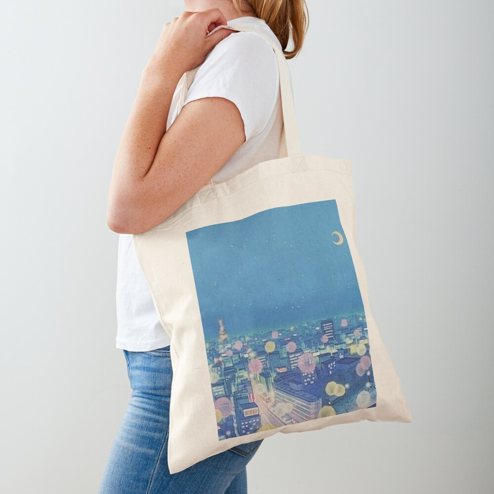 Sailor Moon Background City at Night Tote Bag