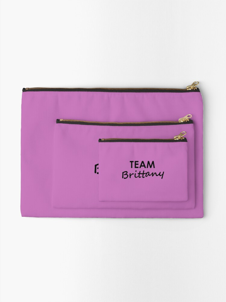 Alternate view of Team Brittany - Stationery Zipper Pouch