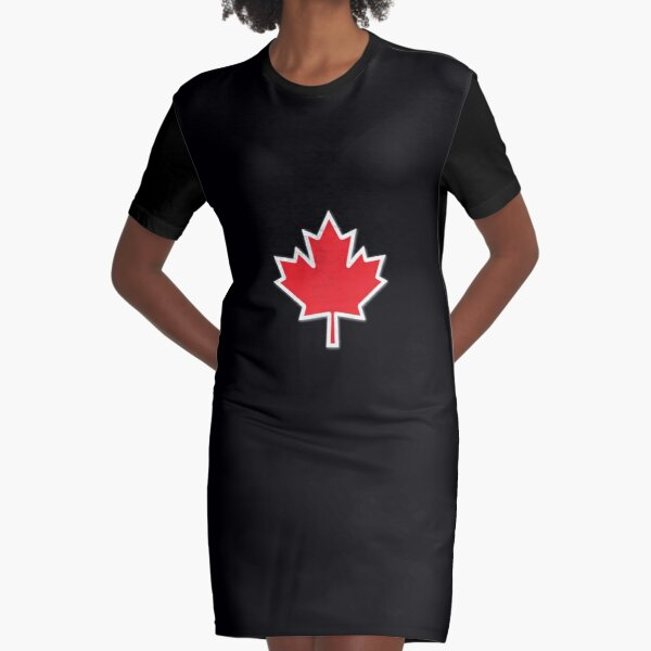 Canadian Maple Leaf design | Canada Day Graphic T-Shirt Dress