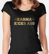 Karma Kicks Ass Women's Fitted Scoop T-Shirt