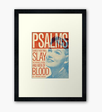 Word: Psalms 1 Framed Print