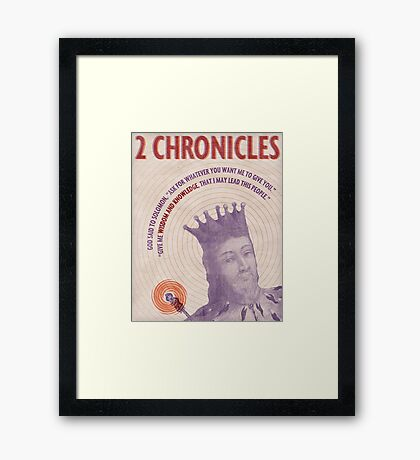 Word: 2 Chronicles Framed Print