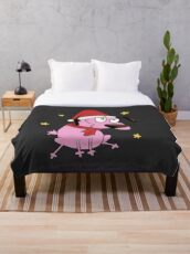 Christmas Courage the Cowardly Dog Throw Blanket