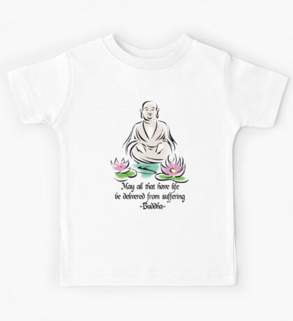 Vegetarian Quote Buddha Kids Clothes