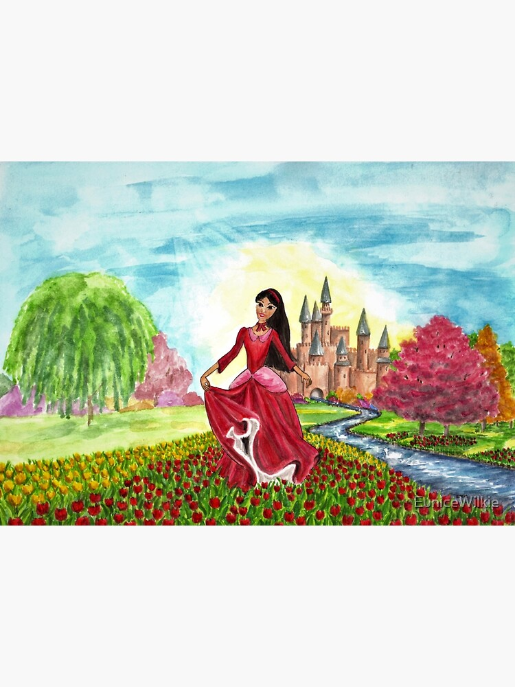 Princess Precious at Shining Palace - Wall Art by EuniceWilkie