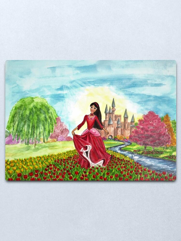 Alternate view of Princess Precious at Shining Palace - Wall Art Metal Print