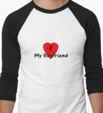I Love My Boyfriend T-shirt Top T-Shirt