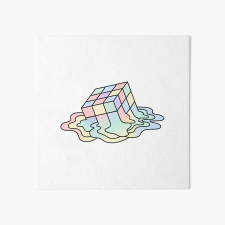 Melting Rubik Art Board Print