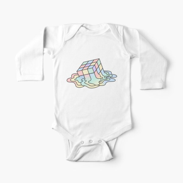 Melting Rubik Long Sleeve Baby One-Piece