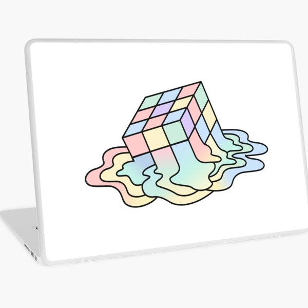 Melting Rubik Laptop Skin