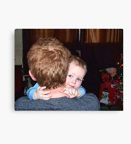 A Christmas Hug Canvas Print