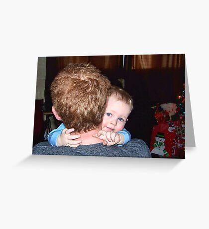 A Christmas Hug Greeting Card