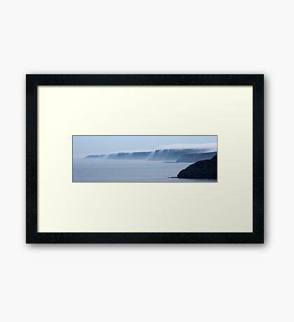 Mist over the Cliffs Framed Print