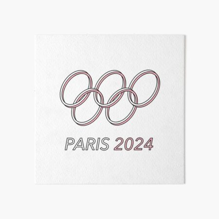 Paris 2024 Art Board Print