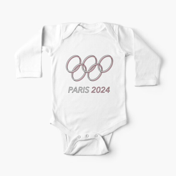 Paris 2024 Long Sleeve Baby One-Piece