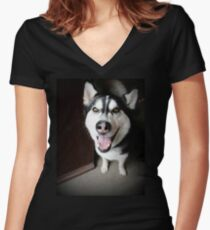 Max Women's Fitted V-Neck T-Shirt