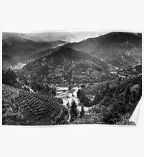 Terraced Mountain Minority Village Poster