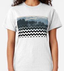 Mountains-Chevron Classic T-Shirt