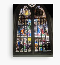 Oude Kirk stained glass Canvas Print