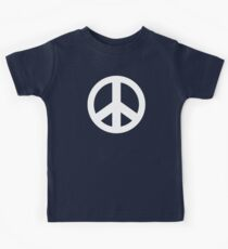 Peace Sign Symbol Dark T-Shirt Kids Tee
